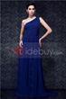 Elegant One-shoulder Ruched Bodice and A-line New Taline's Prom Dress