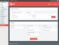 Roost provides a push notification plugin for Wordpress bloggers.