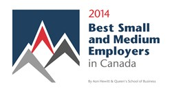 Advanceit it honoured with #9 ranking Best Employer in Canada for 2014