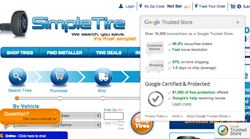 SimpleTire.com: Google Trusted Store