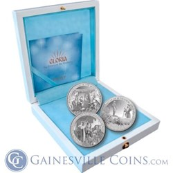 "2013 PAMP Suisse ""Gloria"" Proof Silver Nativity Set"