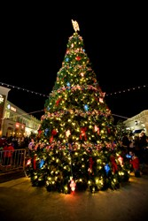 Outlets at the Louisiana Boardwalk 40-foot Christmas Tree