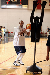 Kevin Durant shooting over The Original Profender