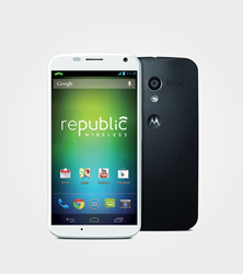 A smarter smartphone: Now with KitKat, The Moto X for Republic Wireless uses both Wi-Fi and cellular Hybrid Calling to keep service costs low.