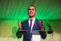 Ashley John-Baptiste was the inspiring speaker at the Havering College of Further and Higher Education Further Education Awards ceremony