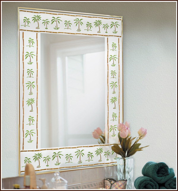 Decorate Mirrors, Windows & Glass Doors With New Palm Tree