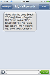 Long Beach Bagel Shop Sees Success with SMS Marketing Broadcast