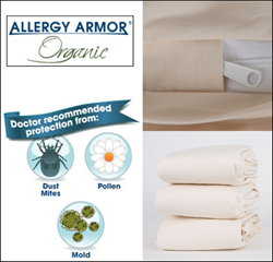 New Allergy Armor Organic Dust Mite Bedding
