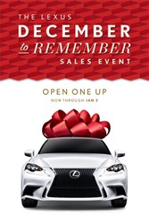 Lexus December to Remember Sales Event