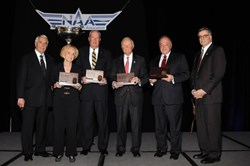 5 winners of NAA 2013 Distinguished Statesman  of Aviation Award
