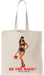 Black Pinup Girl Tote Bag