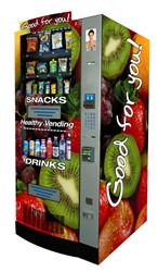 HealthyYOU Vending machines are all privately manufactured in the United States. The company has sold over 10,000 machines nationwide.