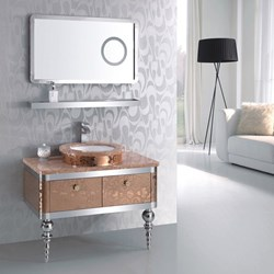 Europe's top designer of bathroom vanity cabinet sets announces their US debut with the launch of http://www.ebathrooms.com.