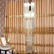 Fabulous Silk Lace Curtains with Embroidery for Blackout (Two Panels)