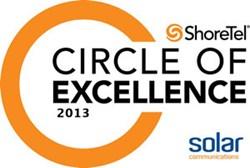 Solar Communications and ShoreTel logo. Solar becomes the No.1 non-US ShoreTel partner