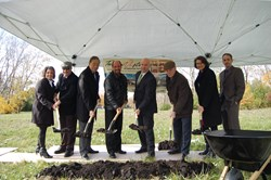 Terra Vista of Oakbrook Terrace, IL Ground Breaking with Kensington Managment Group, Lancaster Health Group, Mayor Tony Ragucci and IL 23rd District Senator Tom Cullerton