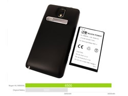 Mugen Power 6500mAh Extended Battery for Samsung Galaxy Note 3 3G / LTE with Battery Door [HLI-N9005XL]
