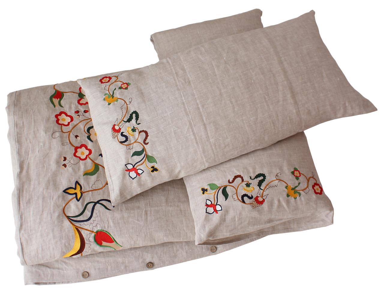 Comfybedlinen S Innovative Embroidered Linen Bedding For