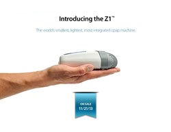 Reserve the Z1™ CPAP Machine today from TheCPAPShop.com - so small it can fit in the palm of your hand!