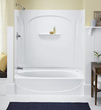 "Sterling by Kohler, Acclaim ADA, Series 7109, 60"" x 30"" Bath with Seat - Left-hand Drain"