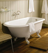 herbeau 0703 charleston 5.5 foot cast iron clawfoot soaking tub with reversible drain