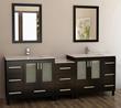 """Design Element Galatian 88"""" Double Sink Bathroom Vanity Set (DEC360-DS)"""