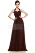 Elegant Ruched A-line Empire Waist Halter Long Bridesmaid Dress Item Code: 09672366