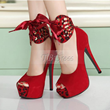 Latest Fall Platform Stiletto Heel Peep-toes Wedding Shoes Item Code: 09651734