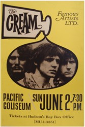 The Cream 1968 Pacific Coliseum Vancouver Boxing Style Concert Poster