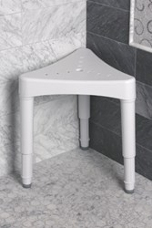 Adjustable Corner Shower Seat from Maddak