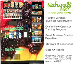 Healthy Vending Business Opportunity of the Year 2013