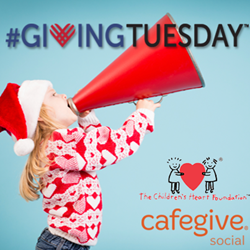 CafeGive Social and The Children's Heart Foundation #GivingTuesday campaign