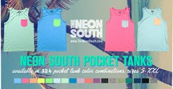 Custom Pocket Tank Tops from The Neon South