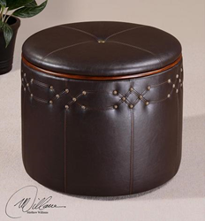uttermost brunner small, storage ottoman 23024. accent furniture