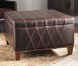 uttermost wattley, storage ottoman 23005. accent furniture