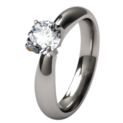 Helena Solitaire Titanium Engagement Ring