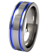 Abyss Colored Titanium Wedding Band