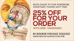Thanksgiving Day, Big Sale, OASAP Thanksgiving