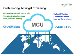 Requestec MCU Conferencing, Mixing & Streaming