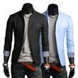 3-Ruler Classic Unsymmetrical Design Two Button Slim Fit Casual Suit