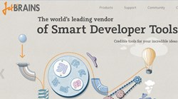 JetBrains homepage image.