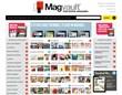 A landing page for digital magazine portal Magvault.com