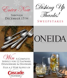 Oneida's Dishing Up Thanks Sweepstakes