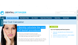The Cost Calculator page for patients