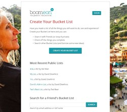 The Bucket List tool for Boomeon Baby Boomers