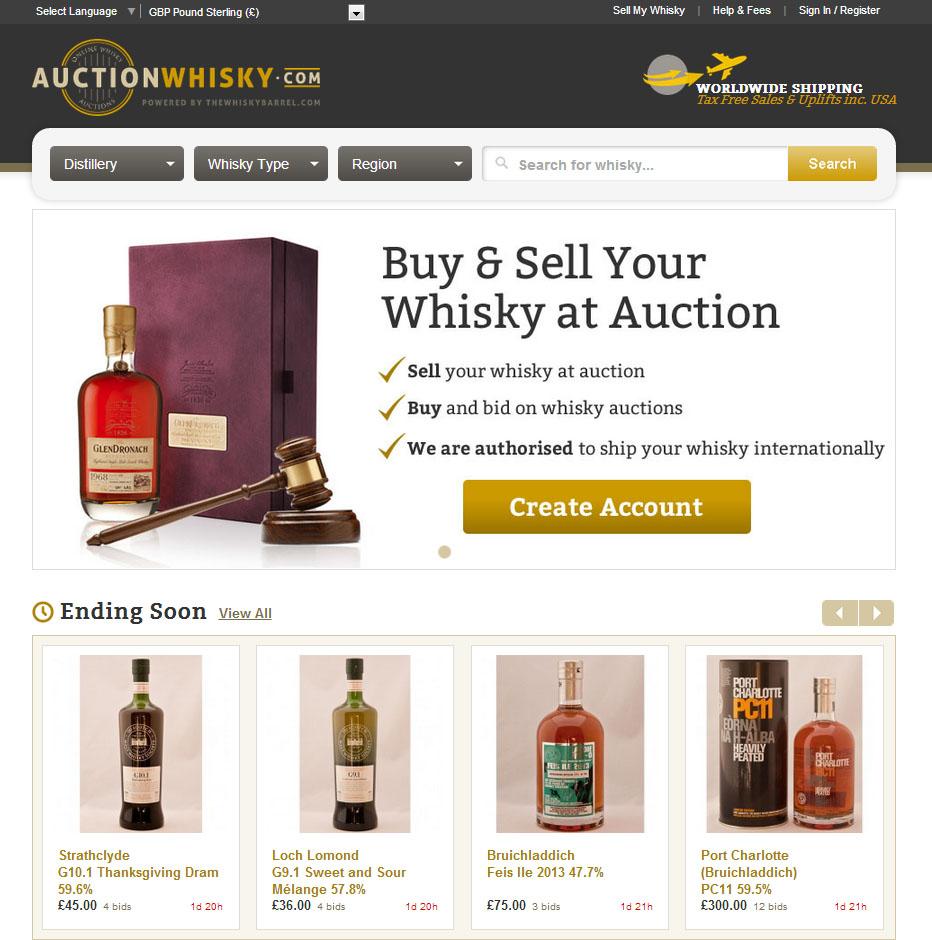 Auctionwhisky Com Scotch Whisky Auction Opens For Business