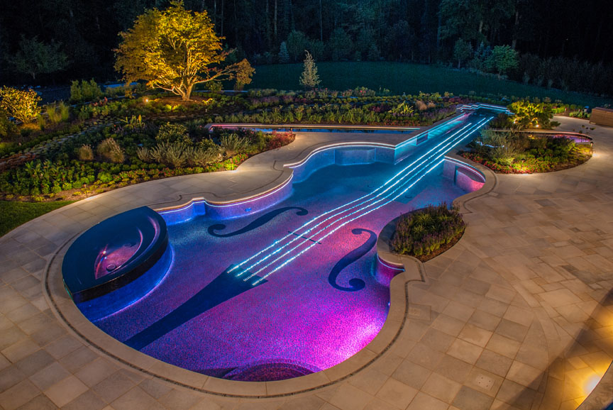 luxury swimming pool spa design njluxury swimming pool design and installation award bergen county nj led lights - Swimming Pool Designers