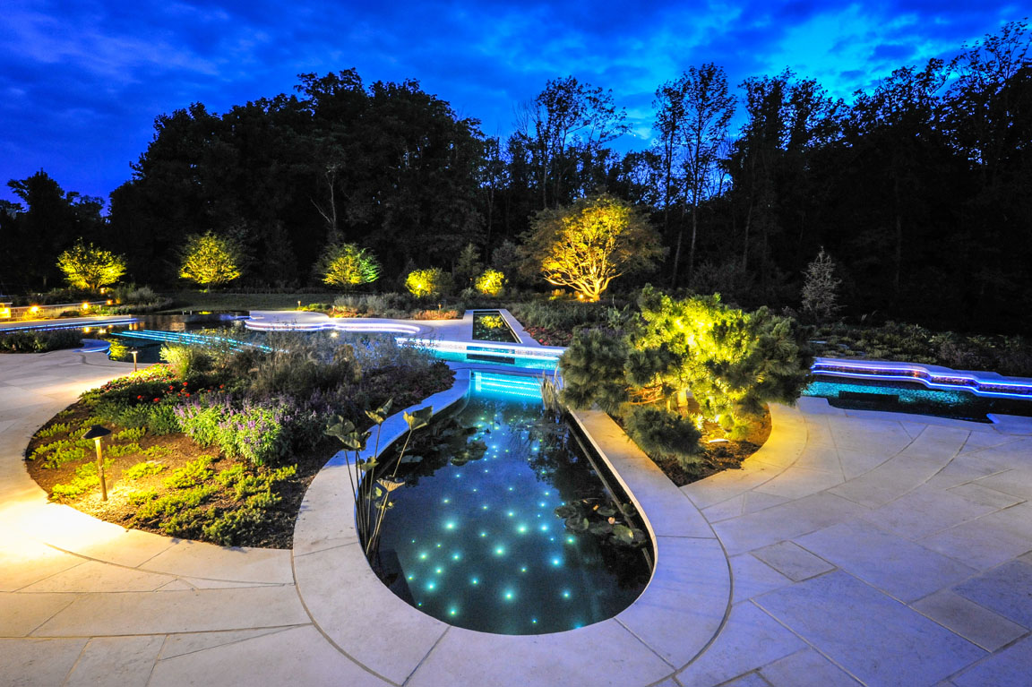 Music themed luxury swimming pool design wins gold bergen for Swimming pond design