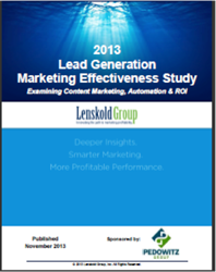 2013 Research Report Cover Lenskold / TPG