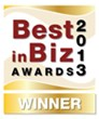 Best in Biz Awards 2013 gold winner logo